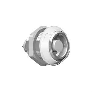ODU MEDI-SNAP®  Front or Rear Panel Mount Receptacle, Size 1, IP50 , 10-Pos., 0 ° Key